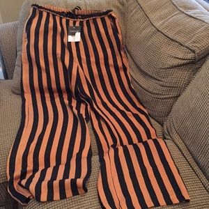 Topshop striped wide legged pants